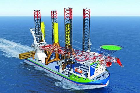 Windkraftbauschiff