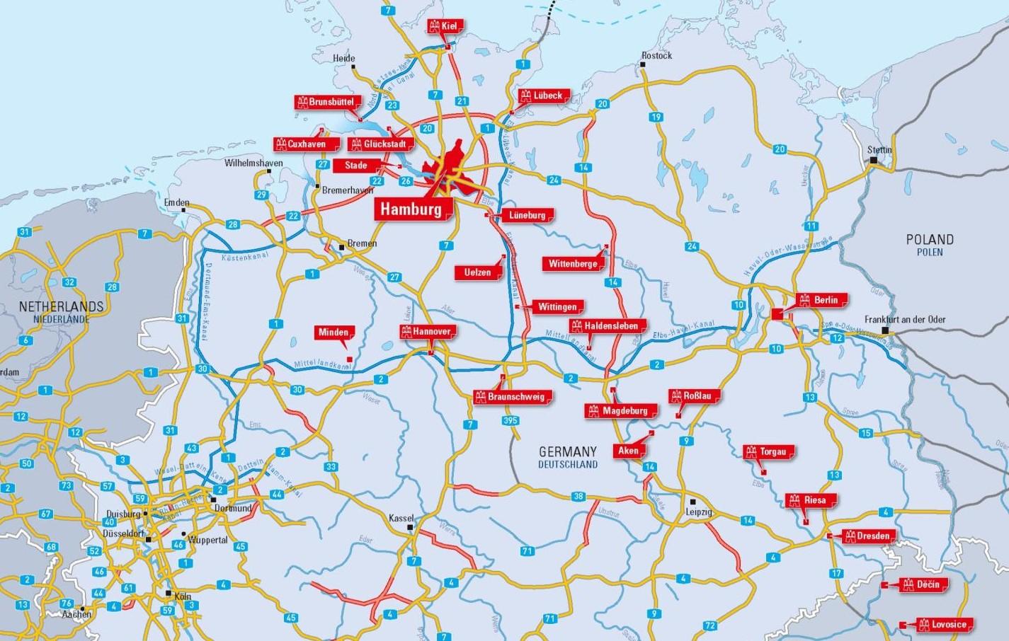 Häfen Hamburg angeschlossen